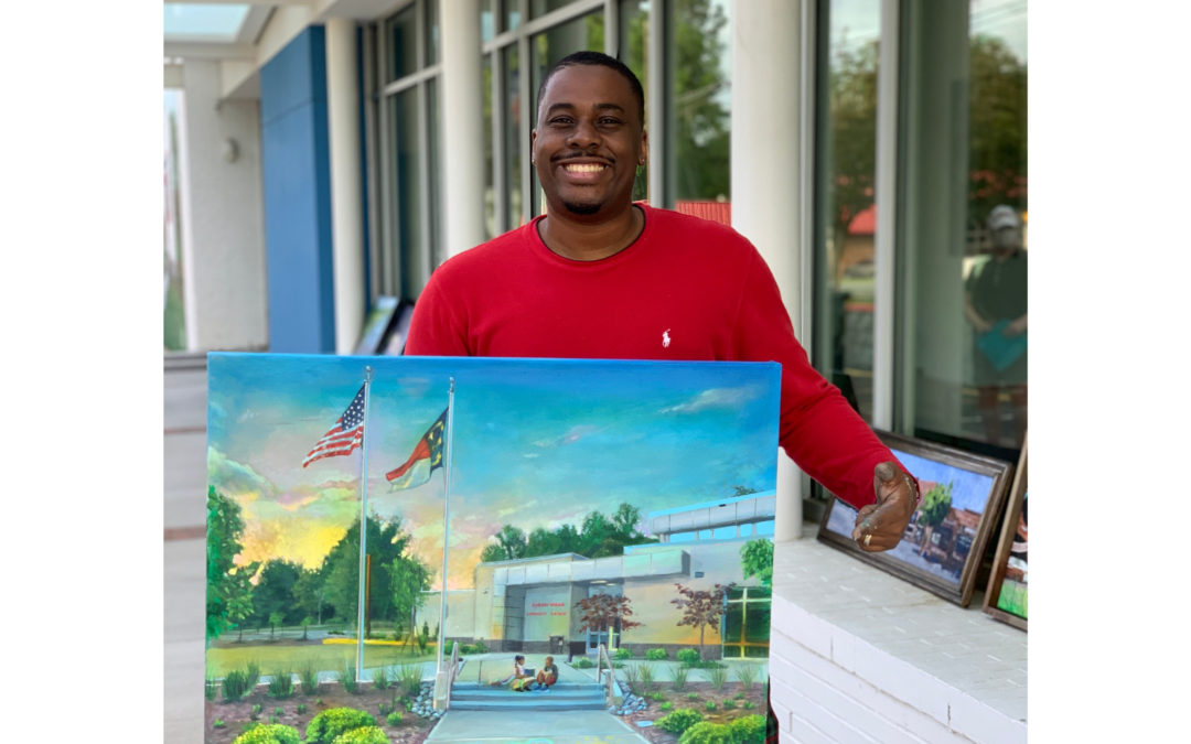 First Place Winner of the 2020 En Plein Air Paint-Off: Jermaine Powell